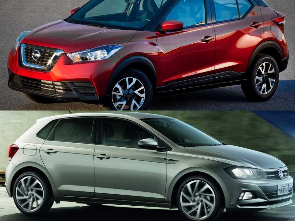 Nissan Kicks e Volkswagen Polo
