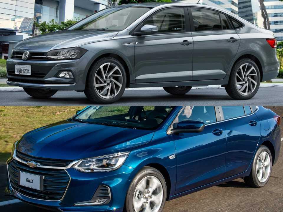 Volkswagen Virtus e Chevrolet Onix Plus