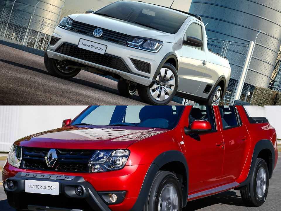 Volkswagen Saveiro e Renault Duster Oroch