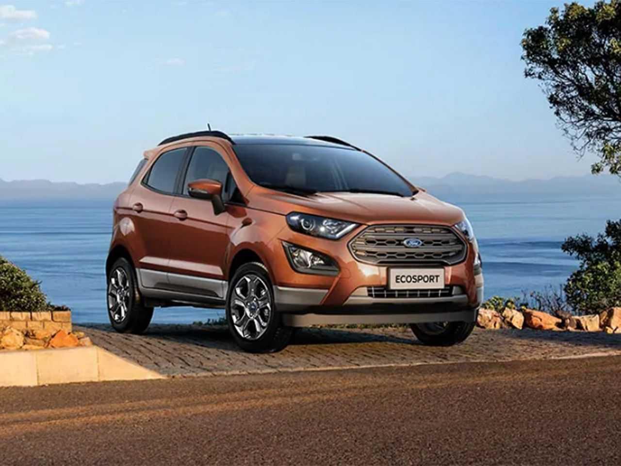 Acima o Ford EcoSport vendido na Índia