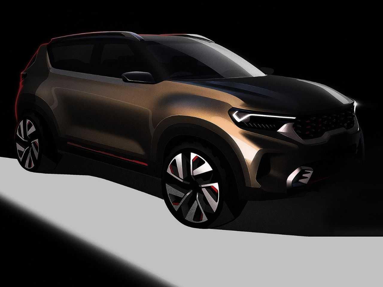 Teaser do futuro SUV subcompacto que a Kia apresentará em breve