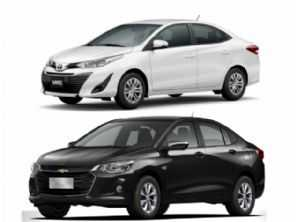 Compra com isenção e pensando na revenda: Toyota Yaris Sedã ou Chevrolet Onix Plus?