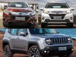Honda WR-V topo de linha, HR-V de entrada ou um Jeep Renegade Sport?
