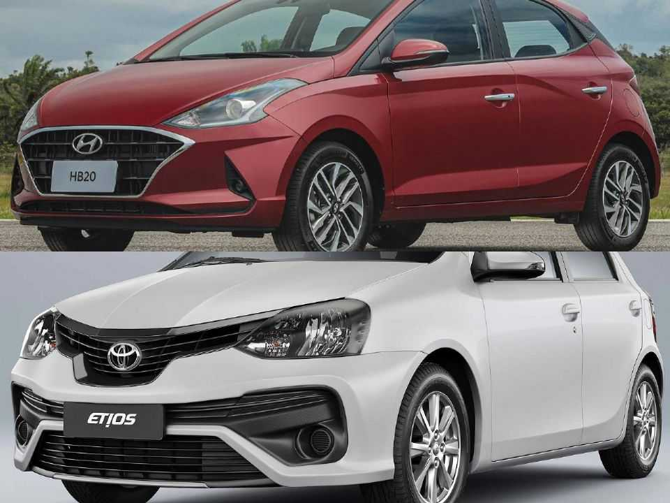 Hyundai HB20 e Toyota Etios