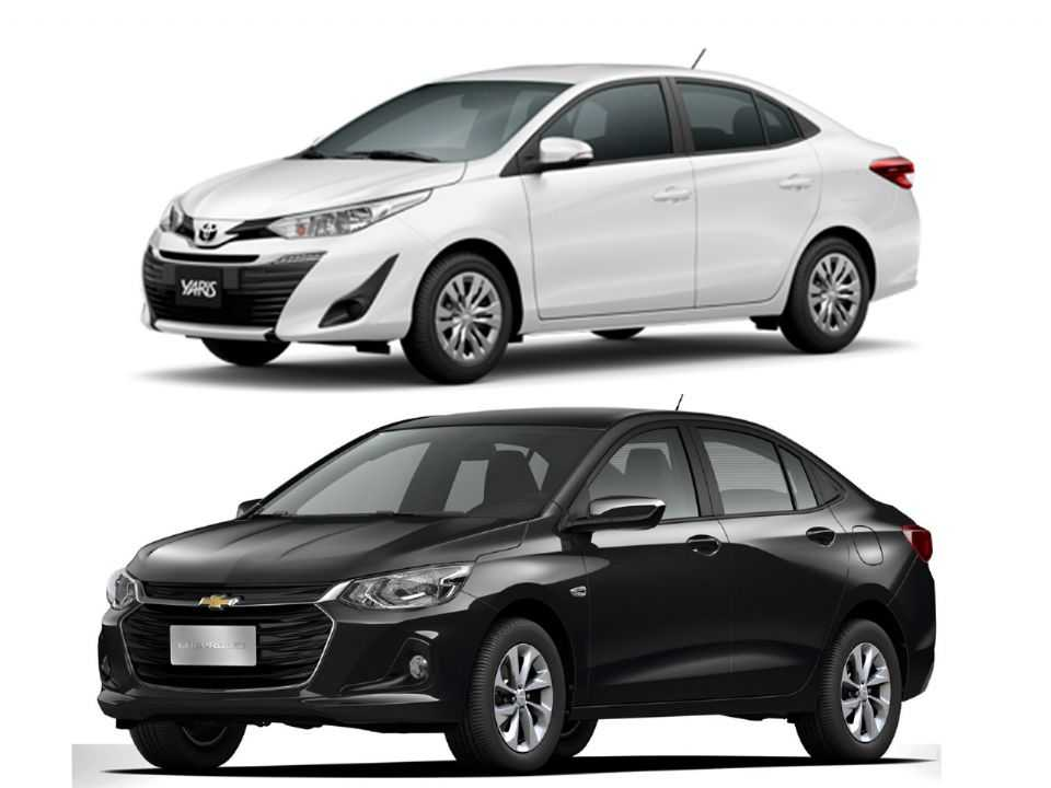 Toyota Yaris Sedã e Chevrolet Onix Plus