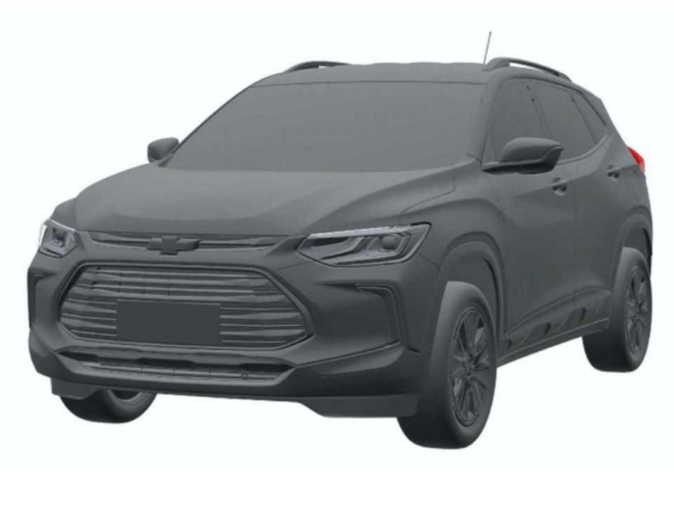 Ilustração do Tracker nacional registrada no INPI: mesmo visual do SUV já oferecido na China
