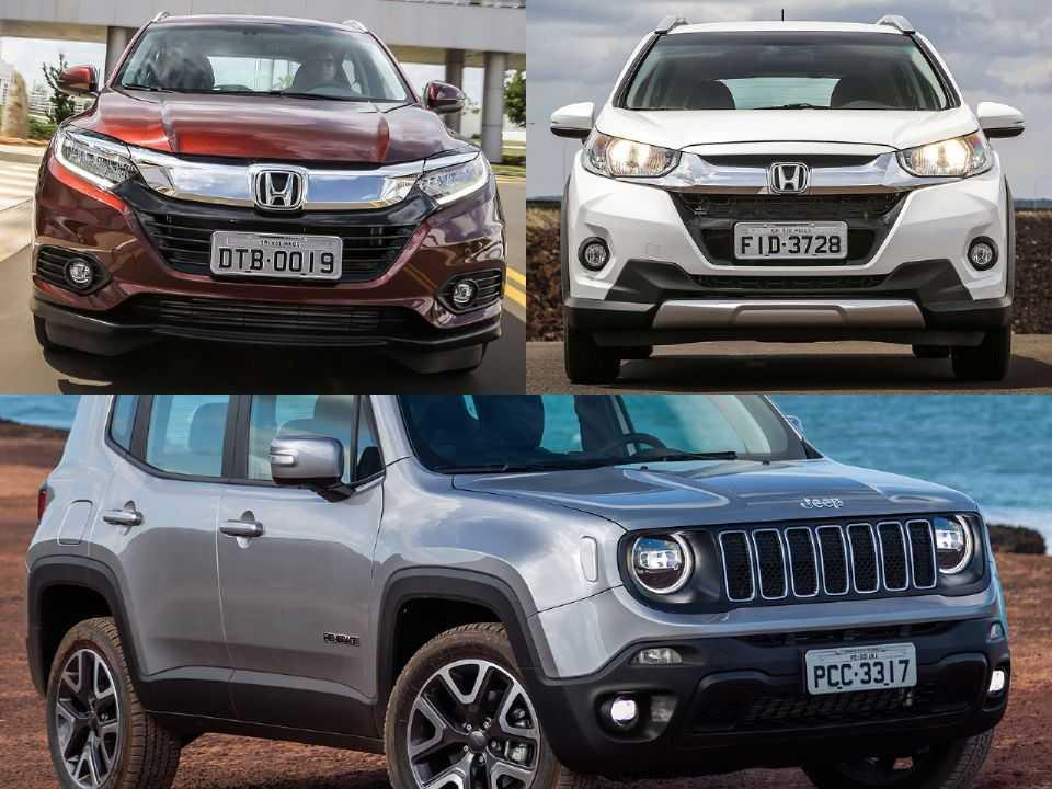 Honda HR-V, Honda WR-V e Jeep Renegade
