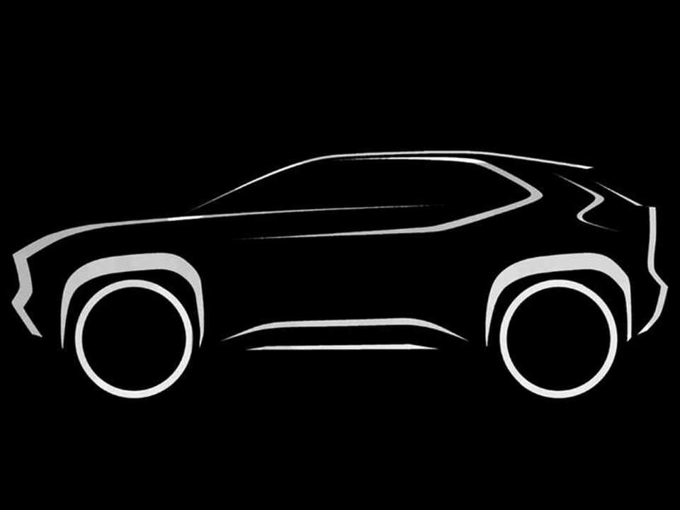 Teaser do futuro SUV derivado do Yaris europeu