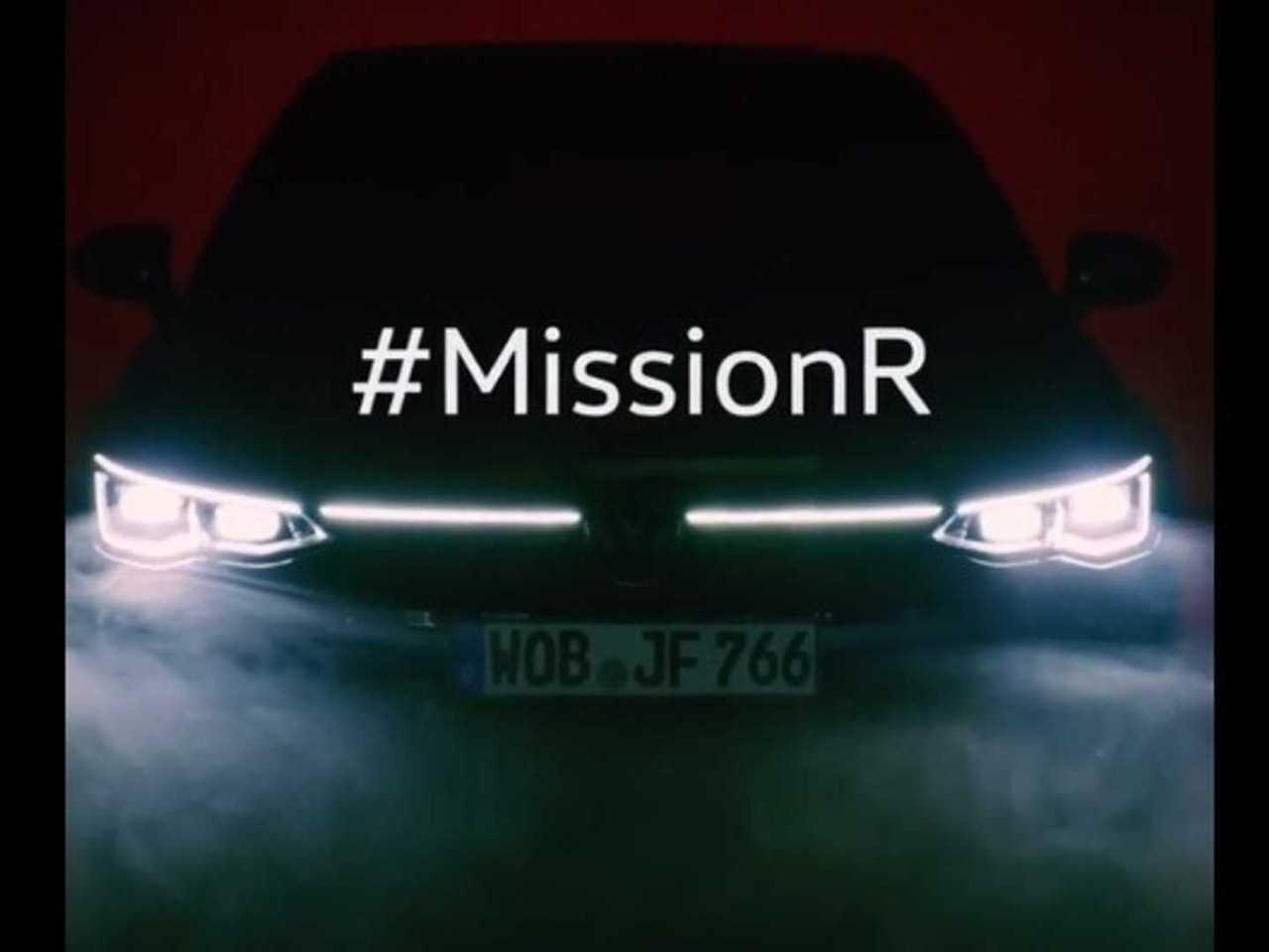 Teaser antecipa o novo VW Golf R