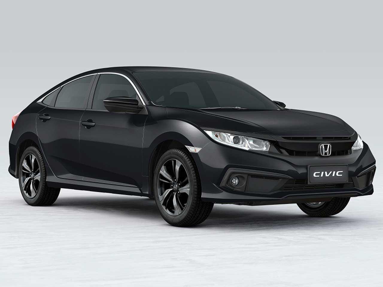 Acima o Honda Civic Sport 2021: versão chega ao mercado em janeiro do próximo ano