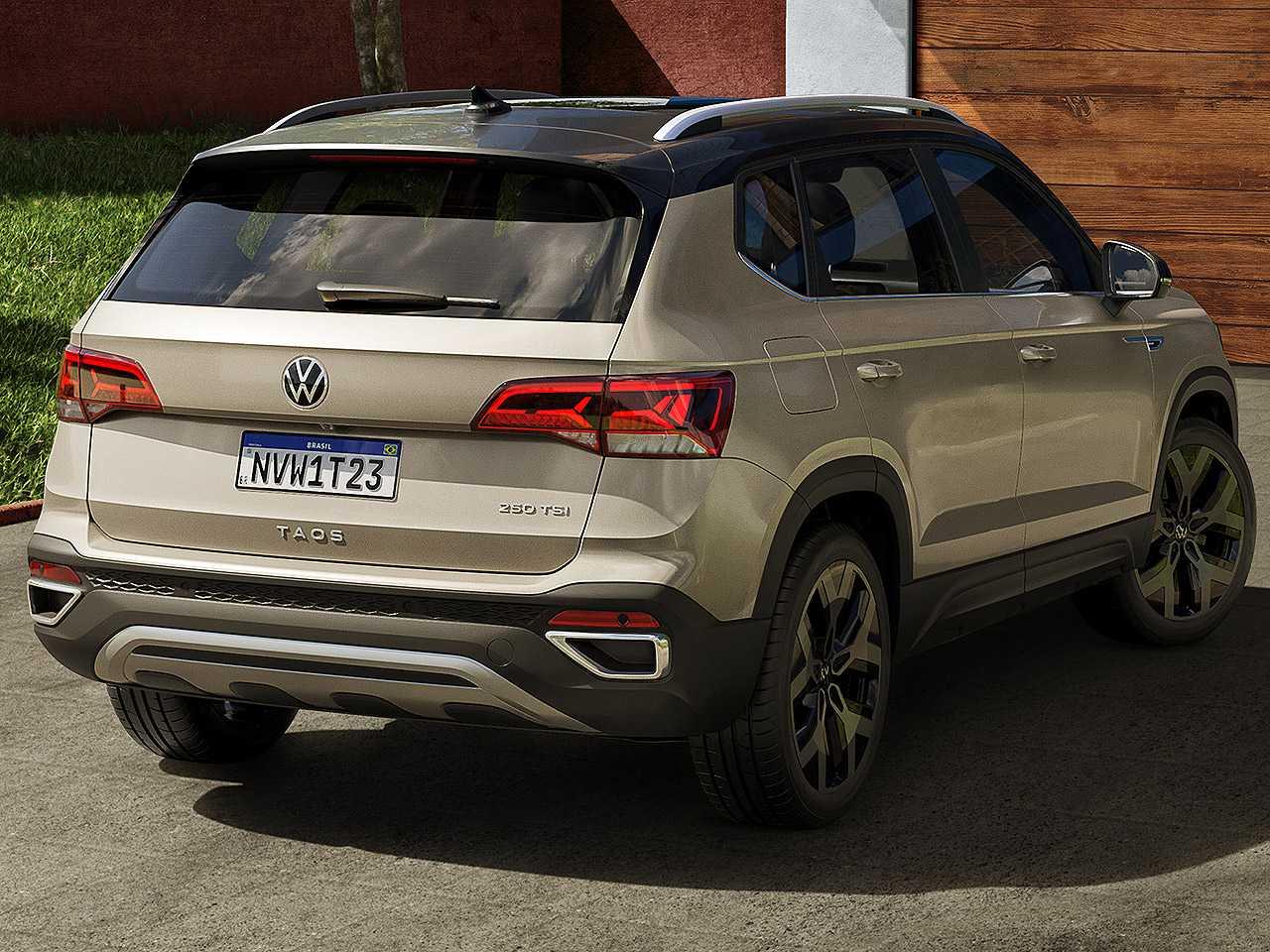 VolkswagenTaos 2021 - ângulo traseiro