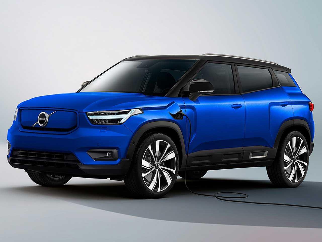 Projeção de Kleber Silva para o futuro SUV elétrico da Volvo posicionado abaixo do XC40
