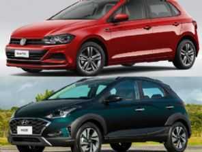 Automáticos abaixo de R$ 70 mil: VW Polo 1.6 ou Hyundai HB20X?