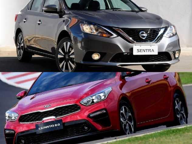 Sedans médios: Kia Cerato EX ou um Nissan Sentra SV?