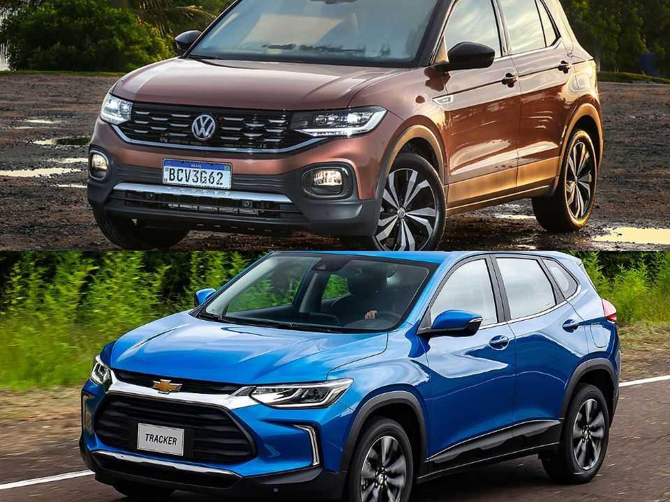 Volkswagen T-Cross e Chevrolet Tracker