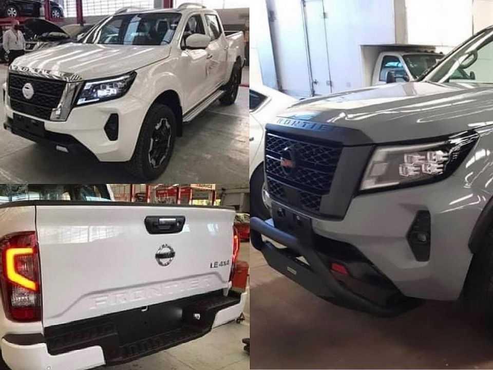 Flagra antecipando o facelift da Nissan Frontier