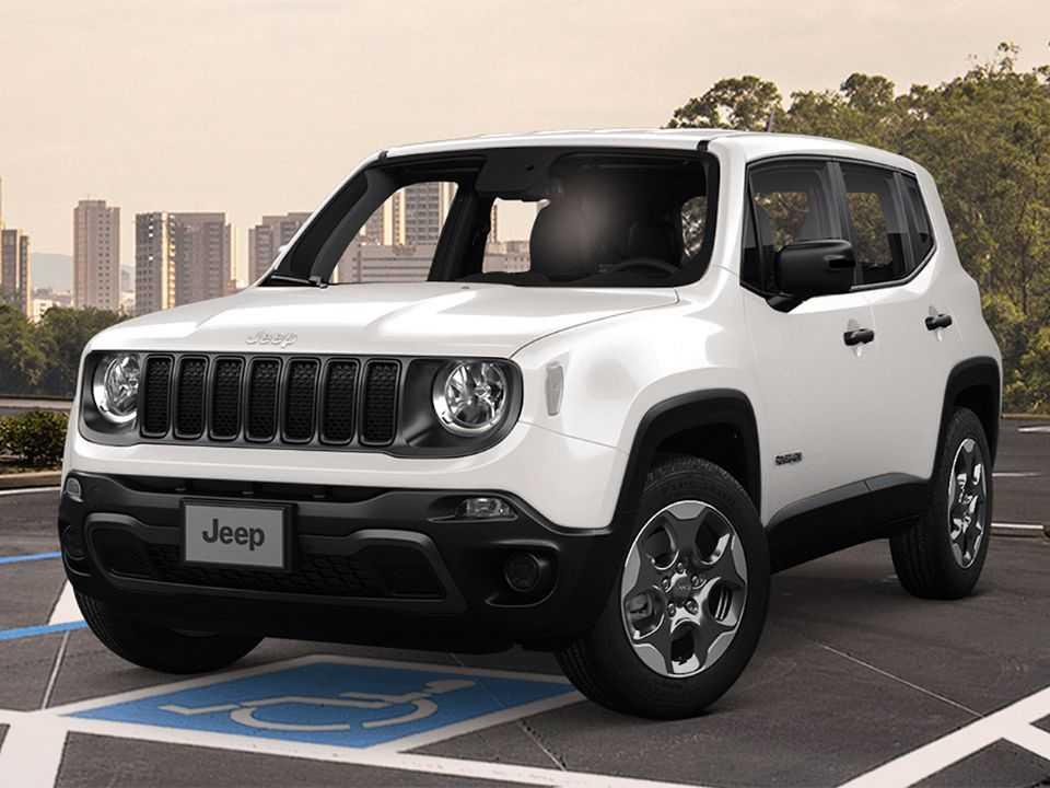 Acima detalhe do Jeep Renegade em sua versão exclusiva para PcD