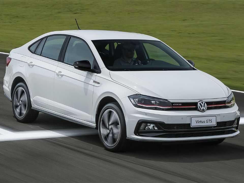Acima o Volkswagen Virtus GTS