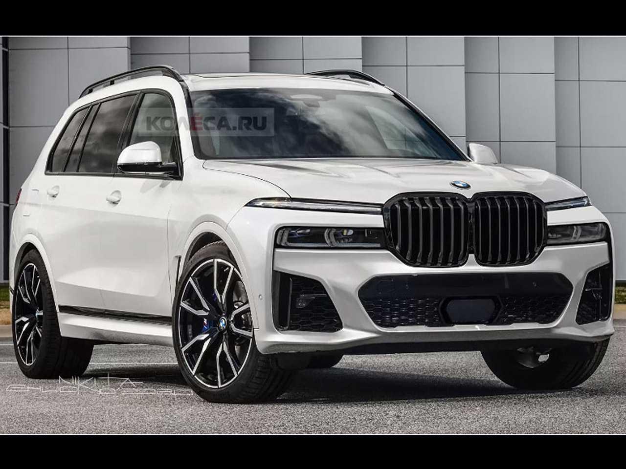 Projeção do site russo Kolesa antecipando o facelift do BMW X7