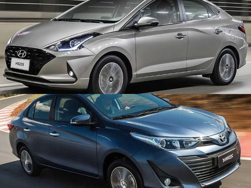 Hyundai HB20S e Toyota Yaris Sedã
