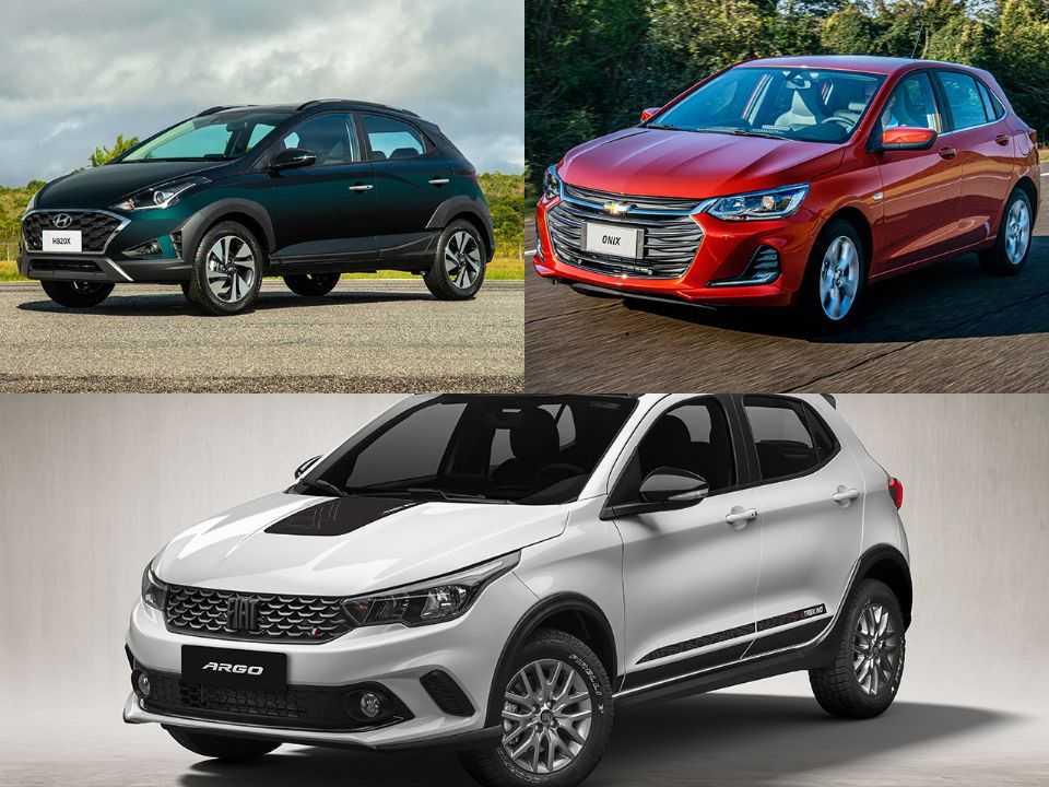 Hyundai HB20X, Chevrolet Onix e Fiat Argo