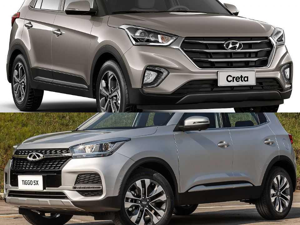 Hyundai Creta e CAOA Chery Tiggo 5x