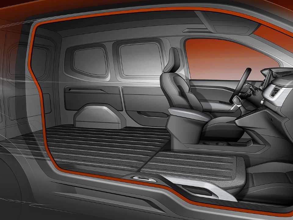 Ilustração do Easy Side Access: sem a coluna B, acesso ao compartimento de cargas é consideravelmente aprimorado