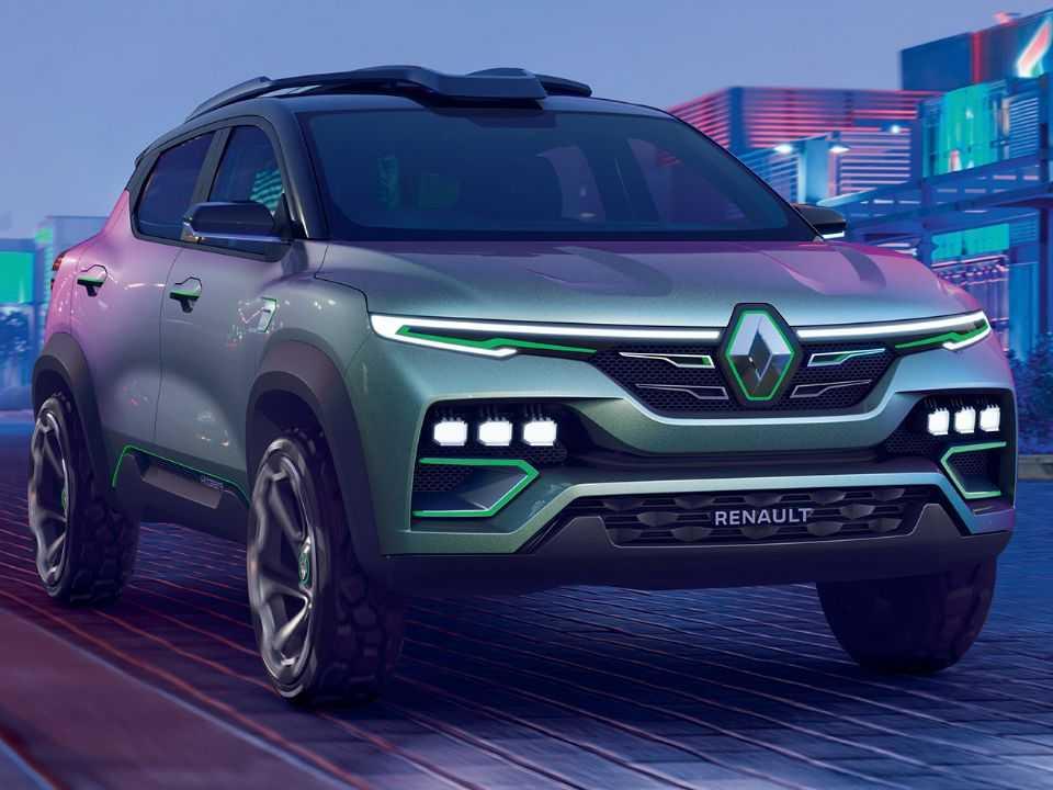 Acima o Renault Kiger revelado ainda na forma de conceito
