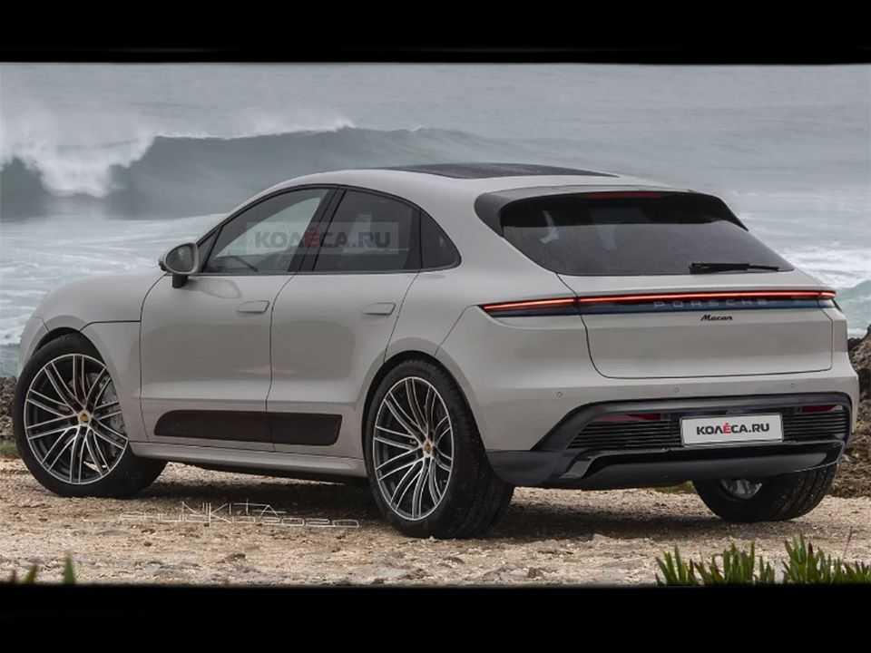 Projeção do site russo Kolesa para a segunda geração do Porsche Macan