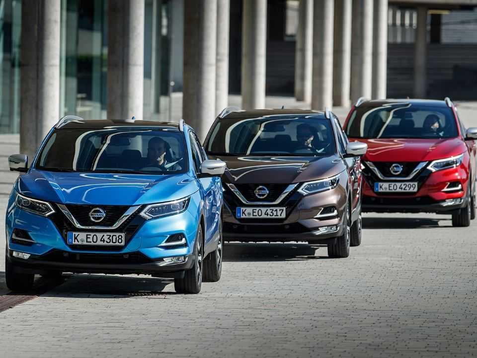 Acima a atual geração do Nissan Qashqai à venda na Europa