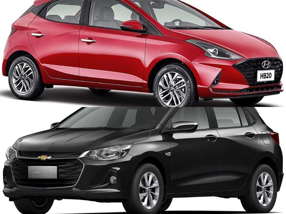 Hyundai HB20 e Chevrolet Onix