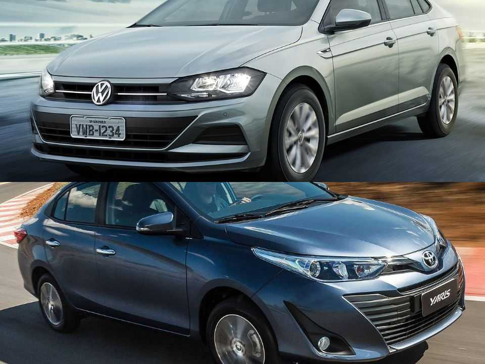 Volkswagen Virtus e Toyota Yaris Sedã