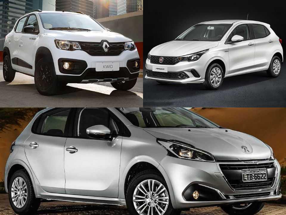 Renault Kwid, Peugeot 208 e Fiat Argo
