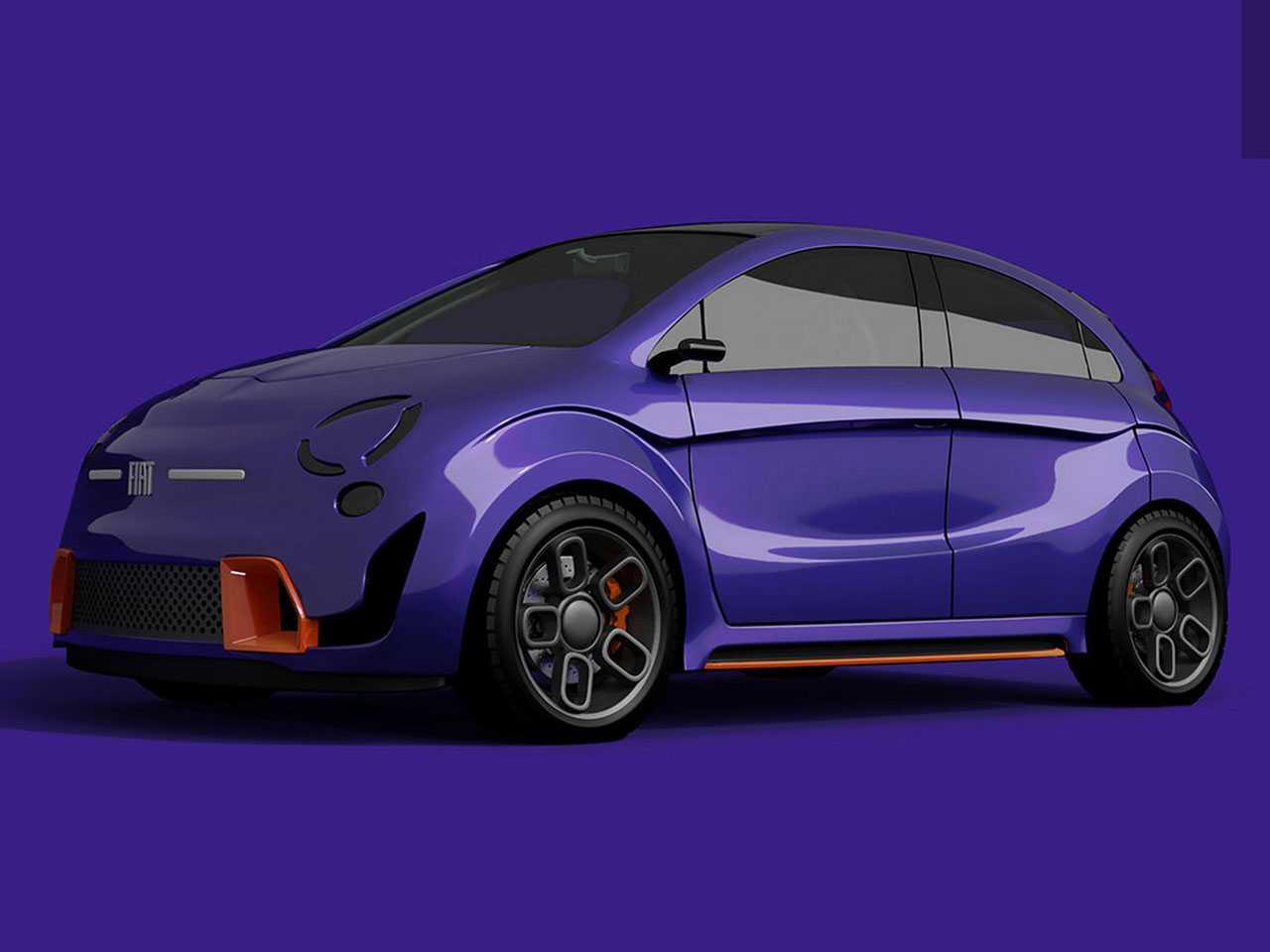 O Fiat elétrico imaginado pelo designer
