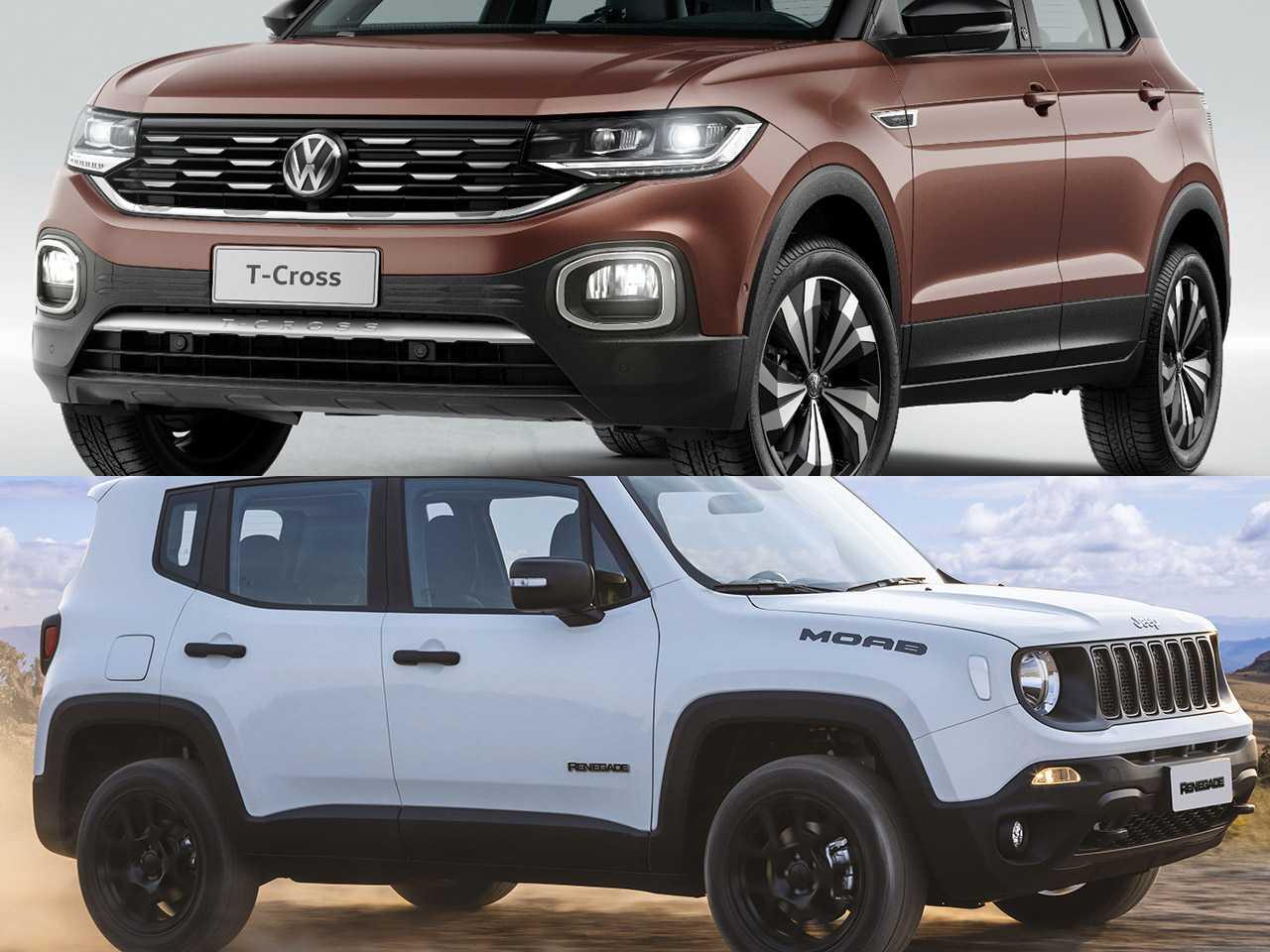 VW T-Cross e Jeep Renegade