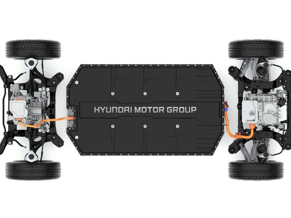 Plataforma E-GMP 100 elétrica da Hyundai