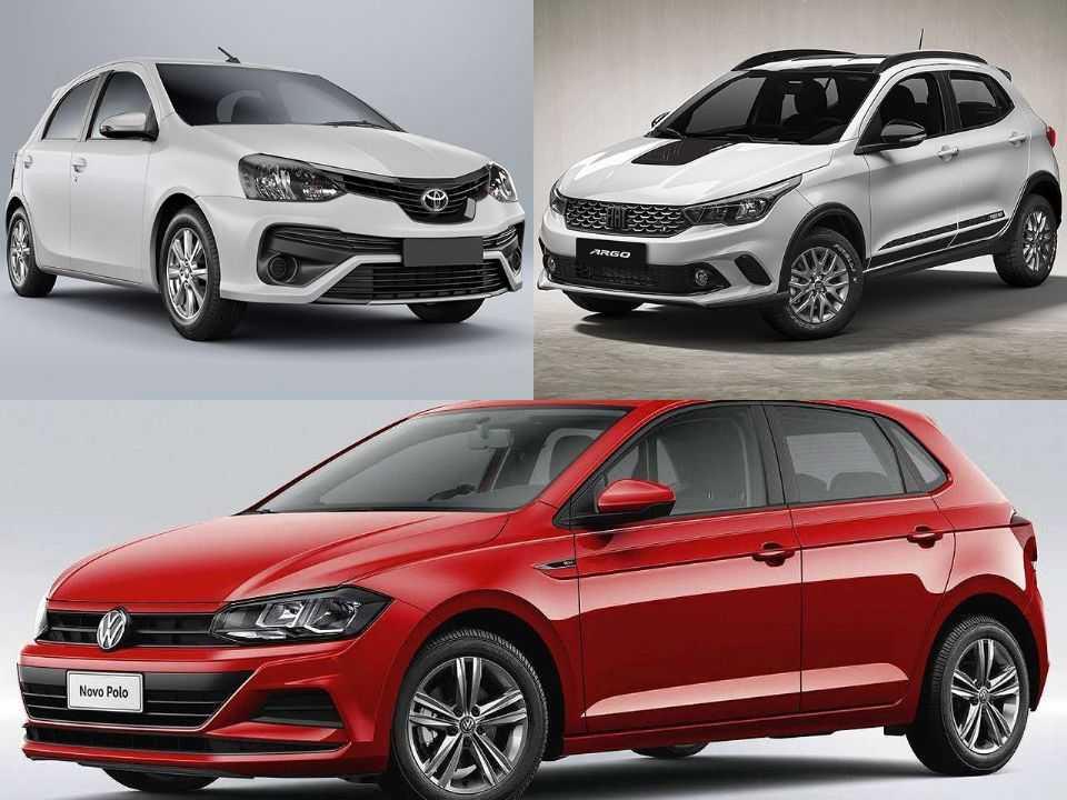 Toyota Etios, Fiat Argo e VW Polo