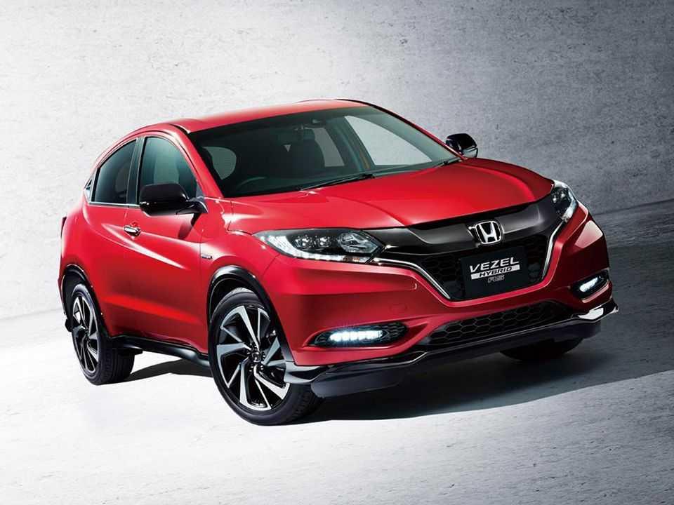 Acima o Honda Vezel, designação do HR-V no mercado japonês