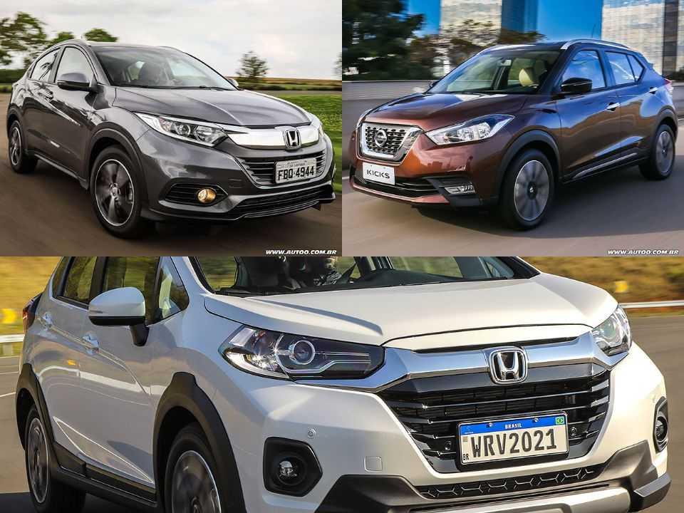 Honda HR-V, Nissan Kicks e Honda WR-V