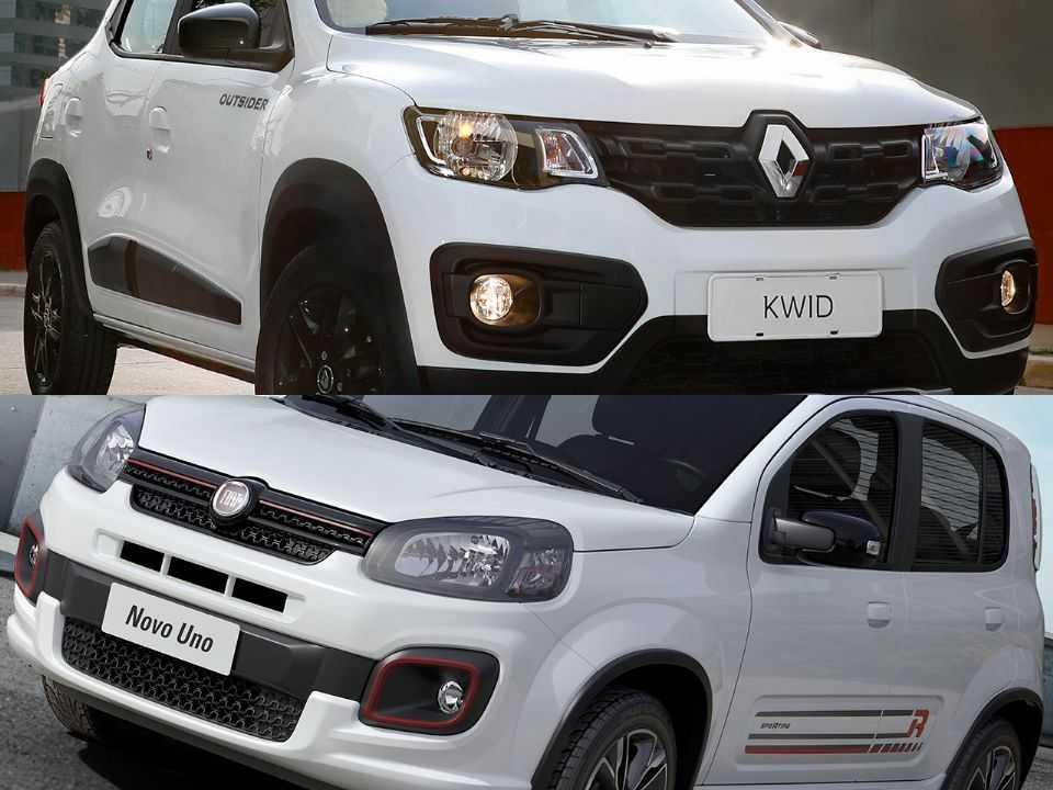 Renault Kwid e Fiat Uno