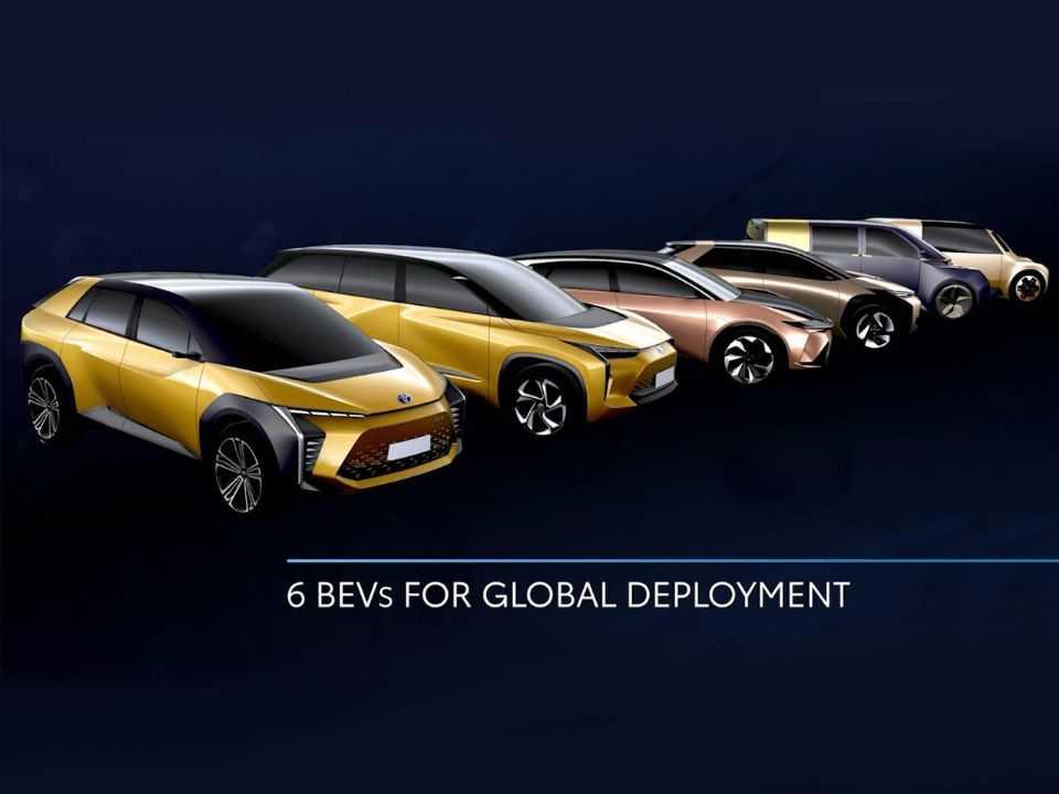 A Toyota lançará seis modelos totalmente elétricos nos próximos anos
