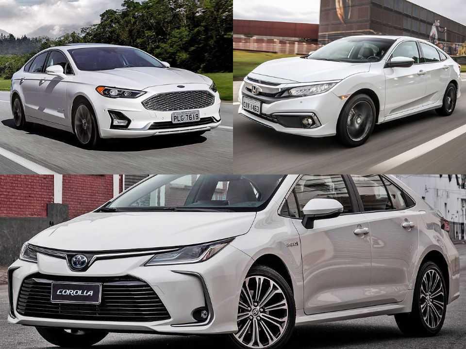 Ford Fusion, Honda Civic e Toyota Corolla