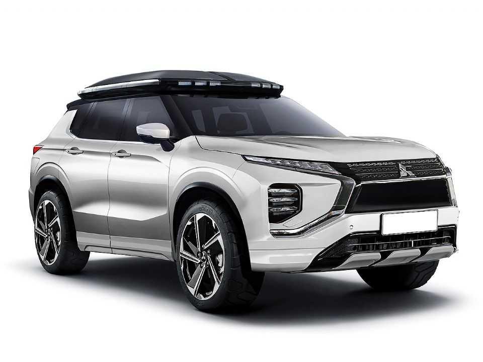 Projeção de Kleber Silva antecipando a nova geração do Mitsubishi Outlander