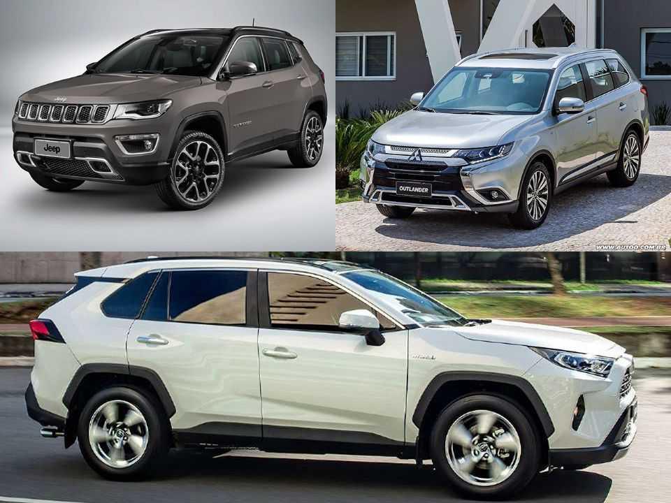 Jeep Compass, Mitsubishi Outlander e Toyota RAV4
