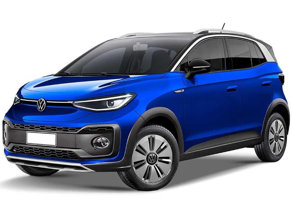 Elétricos acessíveis da VW: hatch ID.1 pode ser acompanhado de um crossover, o ID.2, representado na projeção acima