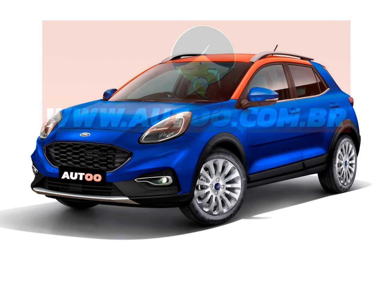Mesclando SUVs recentes da Ford, designer criou um projeção artística para um eventual Ka crossover