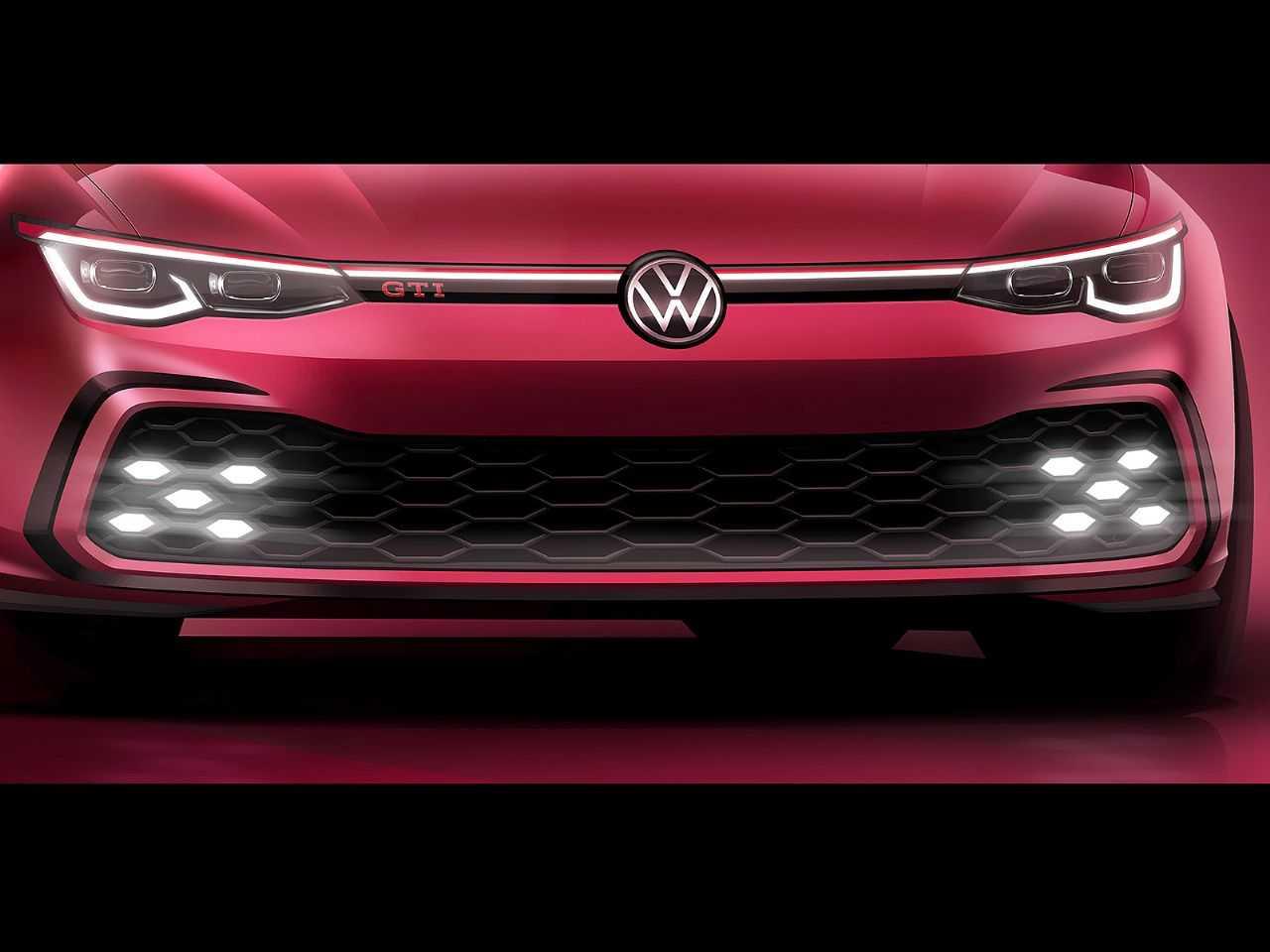 Detalhe da oitava geração do VW Golf GTI