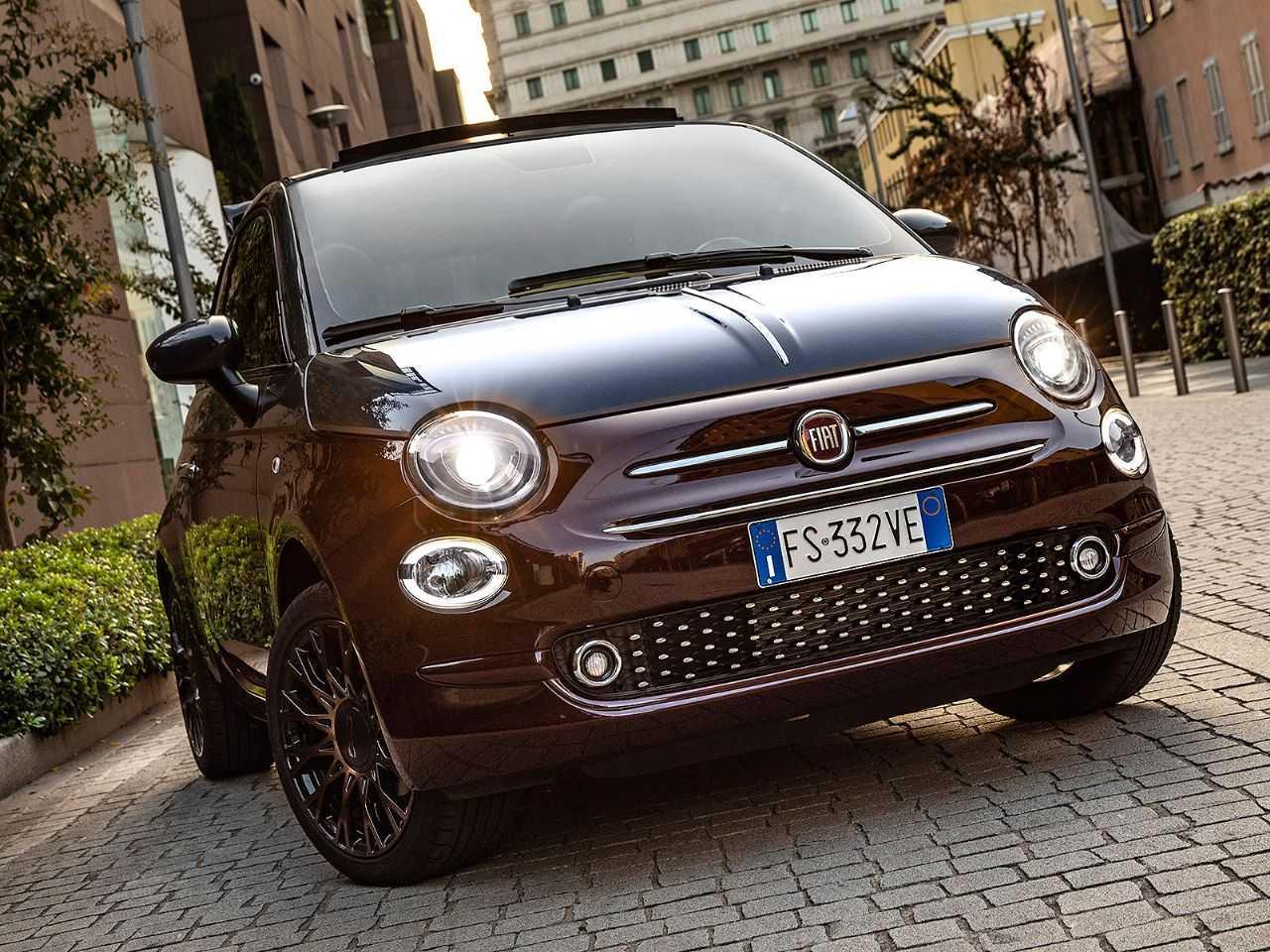 Acima o Fiat 500 atualmente comercializado na Europa
