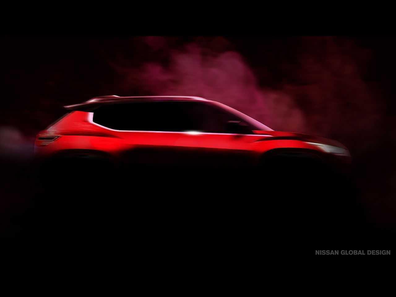 Teaser do futuro mini-Kicks que está em desenvolvimento pela Nissan
