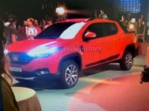 Flagra antecipa por completo a nova geração da Fiat Strada
